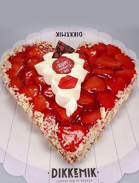 Afbeelding van aardbei bavarois hart
