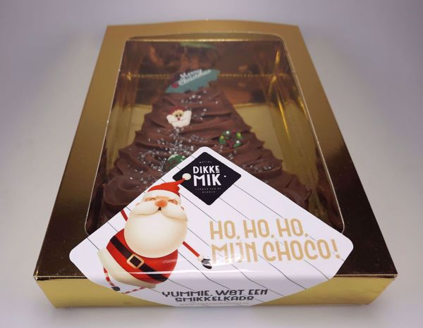 Afbeelding van Gespoten chocolade kerstboom